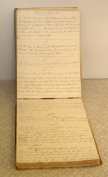A Regimental order  book for 1812